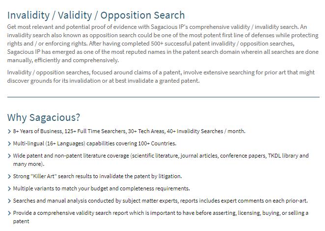 Invalidity-Searches